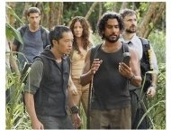 "(l-r) Matthew Fox, Ken Leung, Evangeline Lilly, Naveen Andrews and Jeremy Davies on ABC's ""Lost"" Season Four"