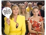 """Kim Cattrall as """"Samantha Jones"""" and Sarah Jessica Parker as """"Carrie Bradshaw"""" in """"Sex and The City: The Movie"""""""