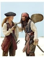 Pirates of the Caribbean: Dead Man's Chest Movie Stills:  Keira Knightley and Johnny Depp
