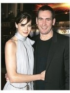 Michelle Monaghan and her husband Pete White at the London Premiere of  Mission: Impossible III