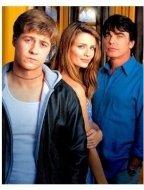 """The O.C."" TV Show Still: Benjamin McKenzie, Mischa Barton, and Peter Gallagher"