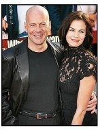 "Bruce Willis and Brooke Burns at ""The Whole Ten Yards"" Premiere"