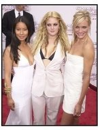"Lucy Liu, Drew Barrymore, and Cameron Diaz at the ""Charlie's Angels: Full Throttle"" premiere"