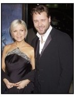 "Russell Crowe and wife Danielle at the ""Master and Commander"" premiere"