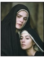 """The Passion of The Christ"" movie Still:Maia Morgenstern and Monica Bellucci"