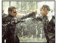 """The Matrix Revolutions"" Movie Still: Keanu Reeves and Hugo Weaving"