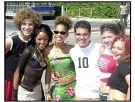 Teen Choice Awards 2002: American Idol Contestants: Justin, Christina, Tamyra, RJ,Kelly and Nikki