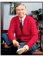 """Mister Rogers' Neighborhood"" TV still: Fred Rogers"