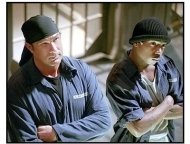 Half Past Dead movie still: Steven Seagal is FBI agent Sascha and Ja Rule is Nick Frazier