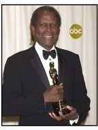 Sidney Poitier backstage at the 2002 Academy Awards