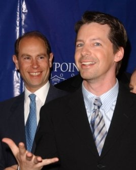 Prince Edward Earl of Wessex and Sean Hayes
