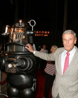 Robby The Robot and Richard Anderson