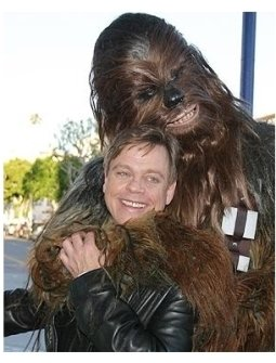 Star Wars: Episode III- Revenge of the Sith Premiere: Mark Hamill and Chewbacca