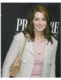 Anne Hathaway at the Premiere Women in Hollywood Luncheon