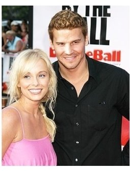 David Boreanaz and wife Jaime Bergman at <I>DodgeBall: A True Underdog Story</I> Premiere