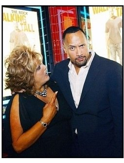 """The Rock and Dwana Pusser at the Nashville Premiere of """"Walking Tall"""""""