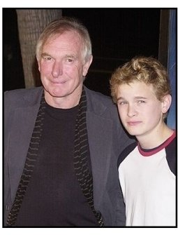 "Director Peter Weir and Max Pirkis at the ""Master and Commander"" premiere"