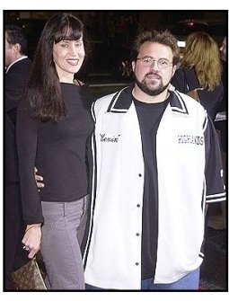 "Kevin Smith and wife Jennifer at the ""Kill Bill Vol. 1"" premiere"