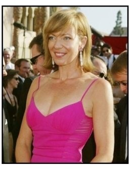 Allison Janney on the red carpet at the 2003 Emmy Awards