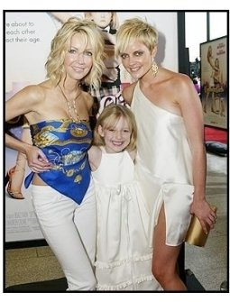 "ONE TIME USE ONLY:  Heather Locklear, Dakota Fanning, and Marley Shelton at the ""Uptown Girls"" premiere"