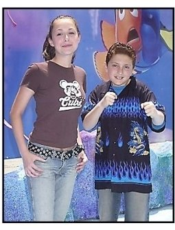 "Alexa Vega and Daryl Sabara at the ""Finding Nemo"" premiere"