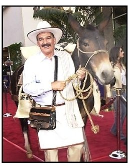 "Juan Valdez and donkey at the ""Bruce Almighty"" premiere"