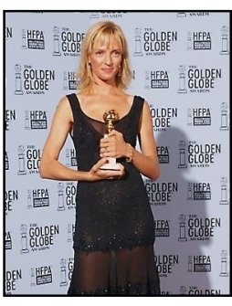 2003 Golden Globe Awards Backstage: Uma Thurman