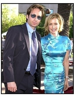 Tea Leoni and David Duchovny at the Jurassic Park III premiere