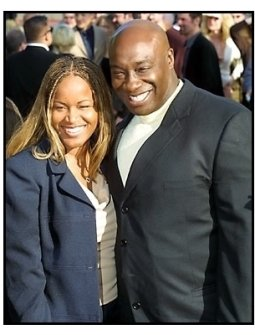 Michael Clarke Duncan and date at The Mummy Returns premiere