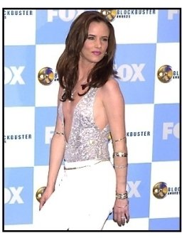 Juliette Lewis backstage at the 2001 Blockbuster Entertainment Awards