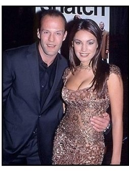 Jason Statham and date at the Snatch premiere