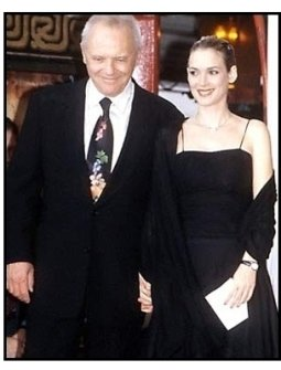 """Winona Ryder at the Anthony Hopkins """"Hands"""" Ceremony"""