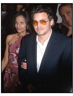 Justin Chambers and wife at The Wedding Planner premiere