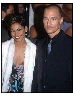 Matthew McConaughey and date at The Wedding Planner premiere