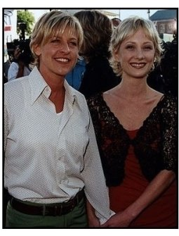 """Ellen DeGeneres and Anne Heche at the """"Contact"""" Premiere"""