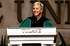 Ellen DeGeneres, Tulane Commencement Speech 2009