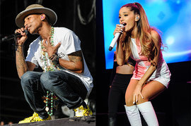 Pharrell Williams and Ariana Grande