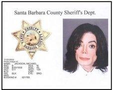 Santa Barbara Sheriff's Dept. Michael Jackson booking photo