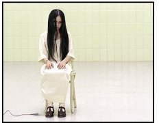 The Ring movie still: The fate of a mysterious little girl named Samara (Daveigh Chase) is somehow at the center of an urban legend about a videotape that dooms anyone who watches it to death in seven