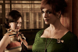 Elisabeth Moss, Christina Hendricks, Mad Men