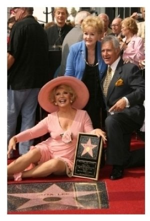 Ruta Lee with Debbie Reynolds and Alex Trebek