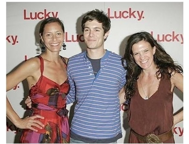 Lucky Magazine Party Photos:  Marlien Rentmeester, West Coast Editor, Adam Brody and Andrea Linett, creative director