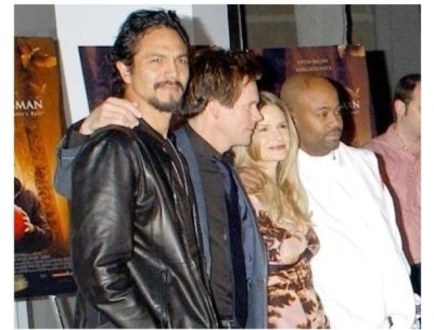 Benjamin Bratt, Kevin Bacon and Kyra Sedgwick at The Woodsman Premiere