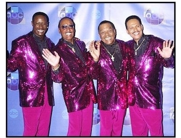 "The Four Tops backstage at the ABC Television Network Special,  ""Motown 45"""