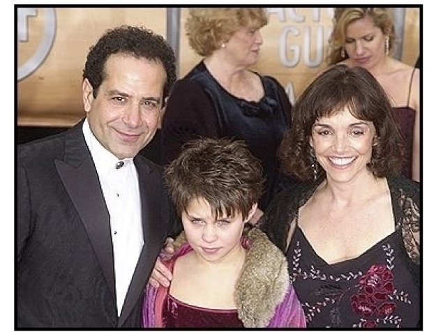 10th Annual SAG Awards -Tony Shalhoub with Brooke Adams and Sophie- Red Carpet
