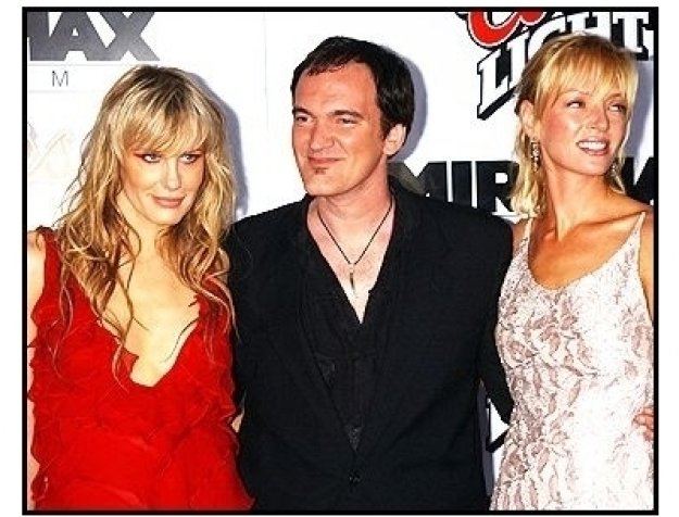 "Daryl Hannah, Quentin Tarantino, and Uma Thurman at the ""Kill Bill Vol. 1"" premiere"