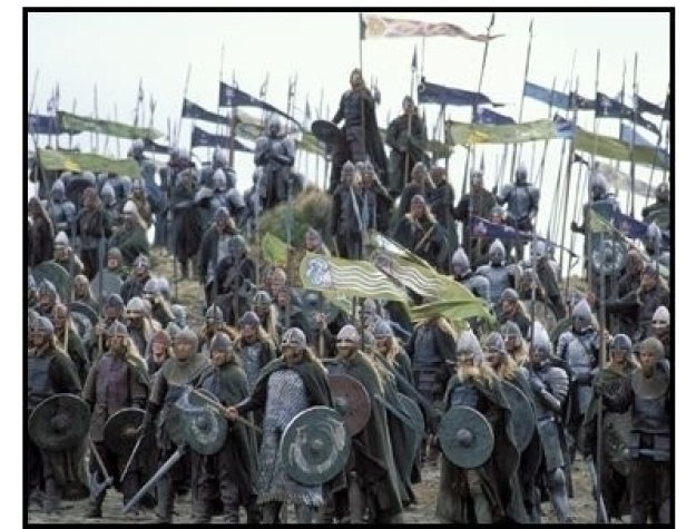"""The Lord of the Rings: The Return of the King"" Movie Still: Gondorian and Rohan soldiers"