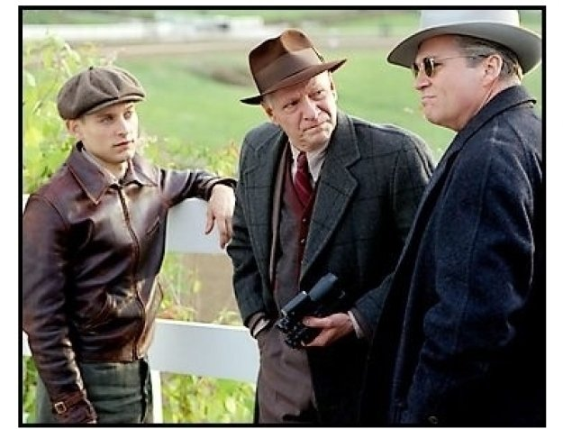"""""""Seabiscuit"""" Movie Still: Tobey Maguire, Chris Cooper and Jeff Bridges"""