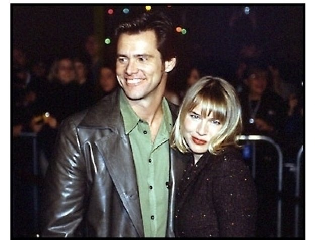 Jim Carrey and Renee Zellweger at The Grinch premiere