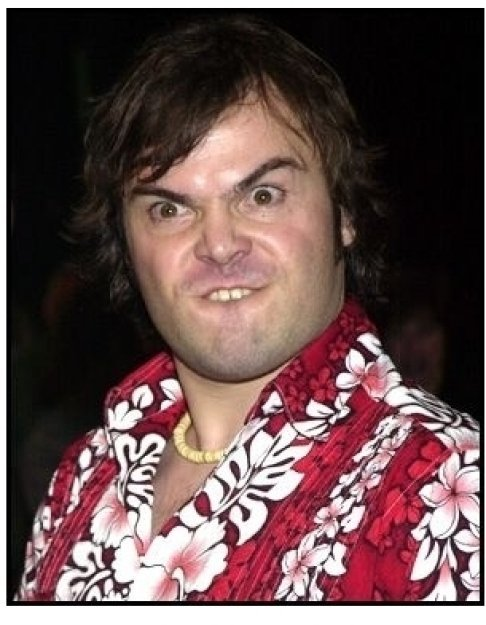 Jack Black at the Orange County premiere